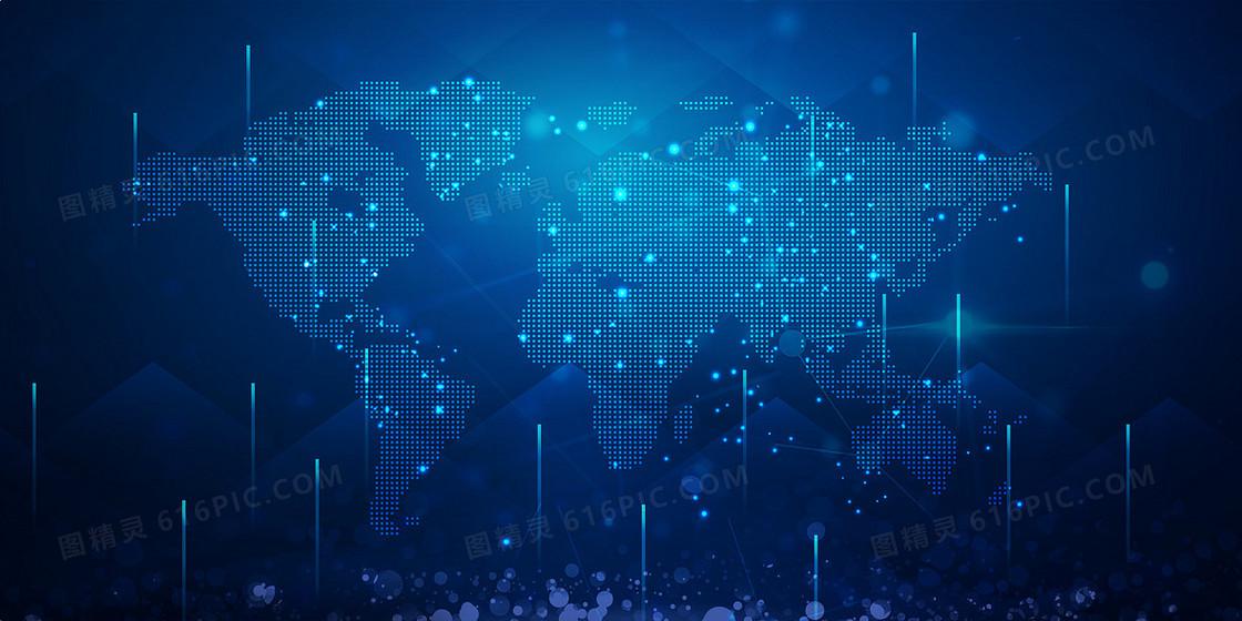 地图波点科技中国地图科技光效背景