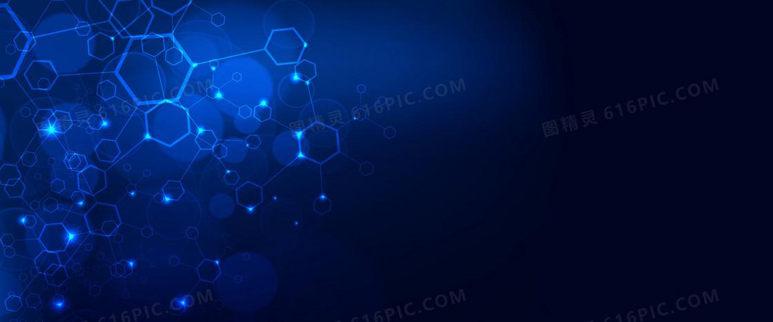 蓝色科技数码电子产品炫酷光束背景