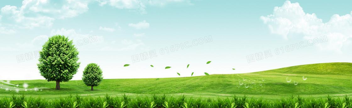绿色环保和谐低碳封面海报banner