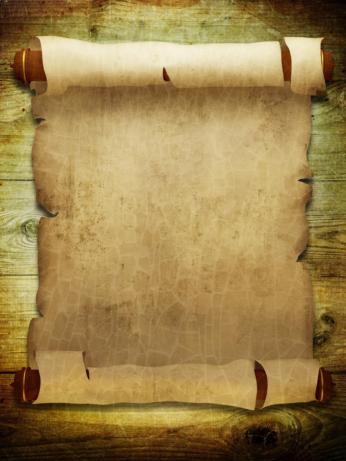 复古竖版卷轴纸张背景图片