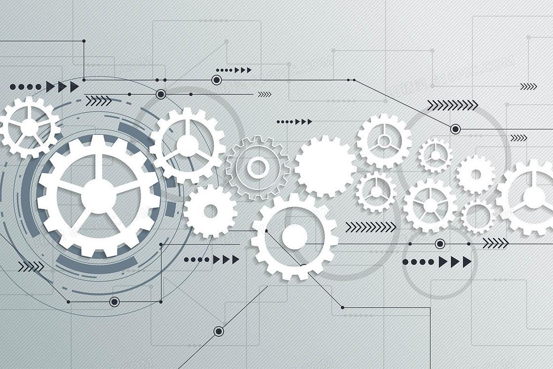 矢量工业科技商业齿轮背景