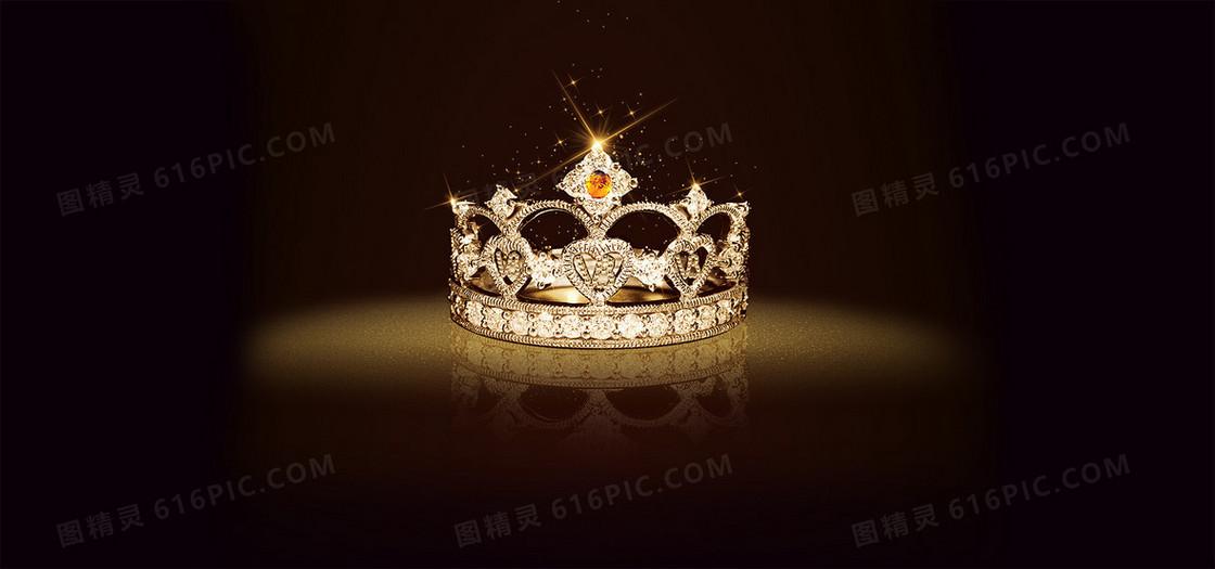 霸气黑色皇冠背景