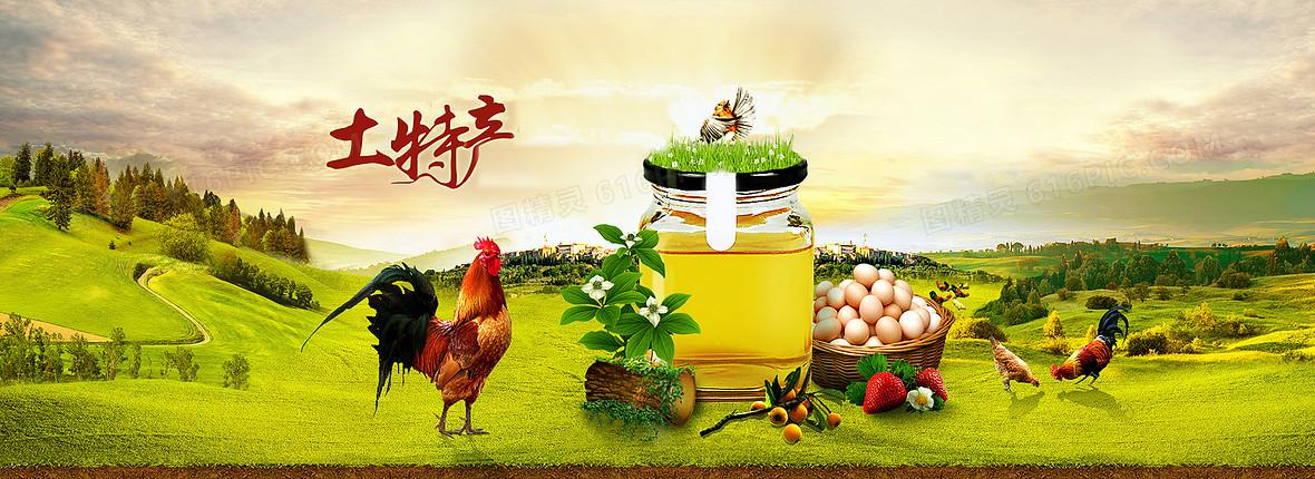 土特产农产品绿色食品背景素材