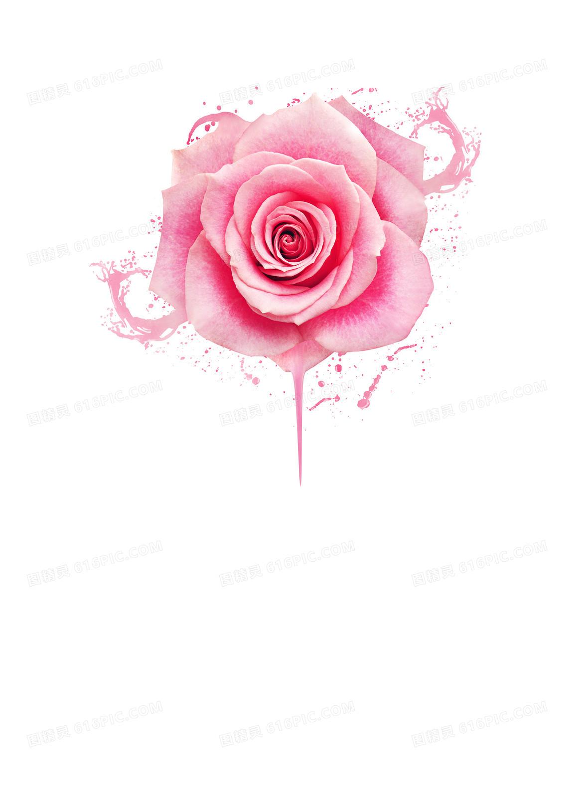 粉色浪漫梦幻玫瑰海报背景素材