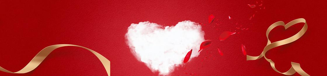 爱心情人节红色海报背景