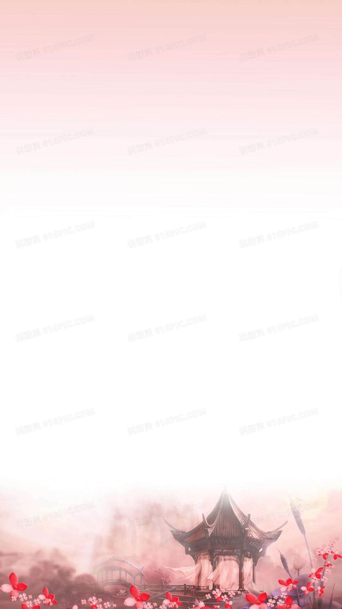 三生三世十里桃花素材背景图片下载_3544x4725像素jpg