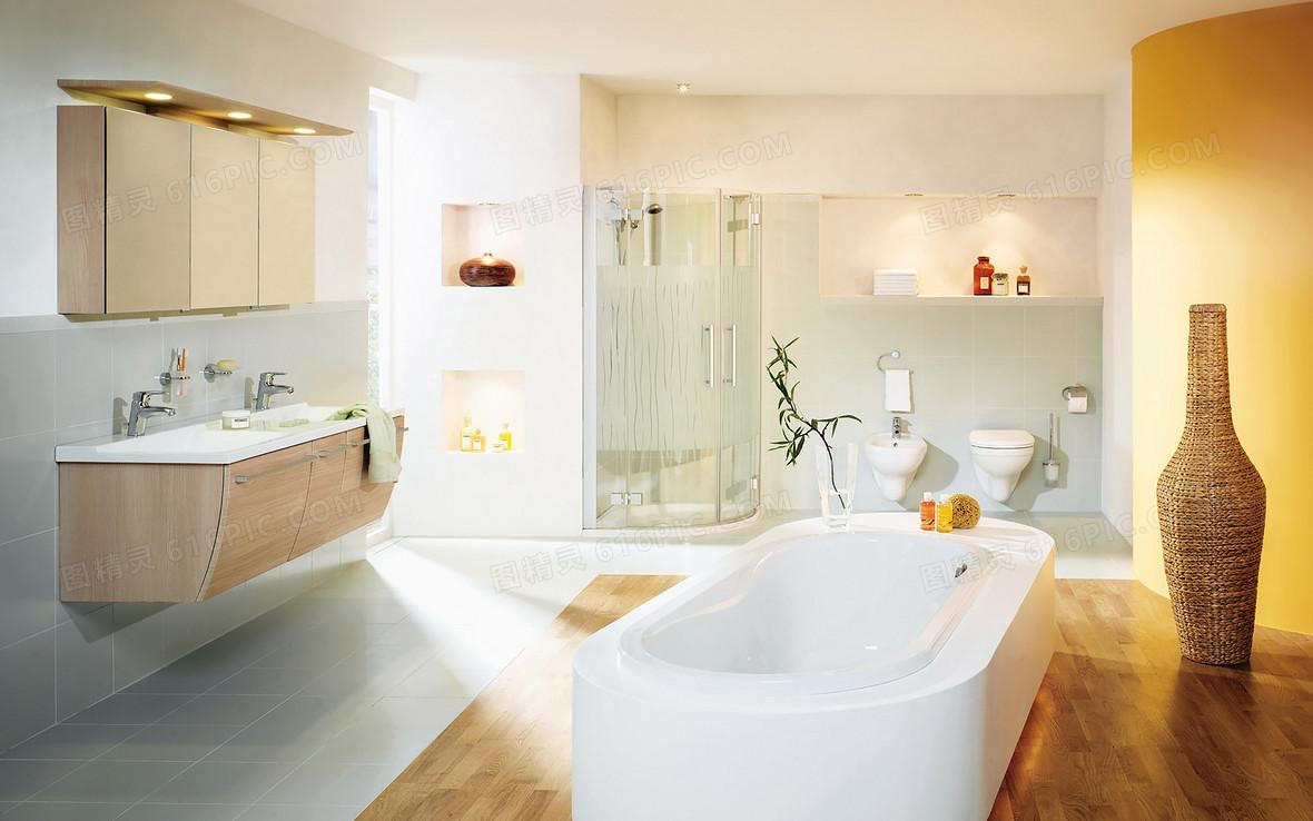 温馨高级浴室浴缸背景