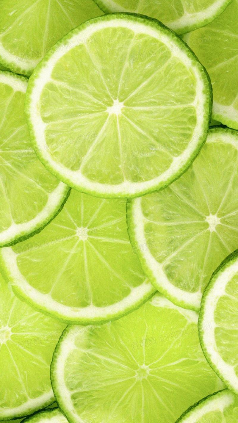 小清新绿色柠檬h5背景素材
