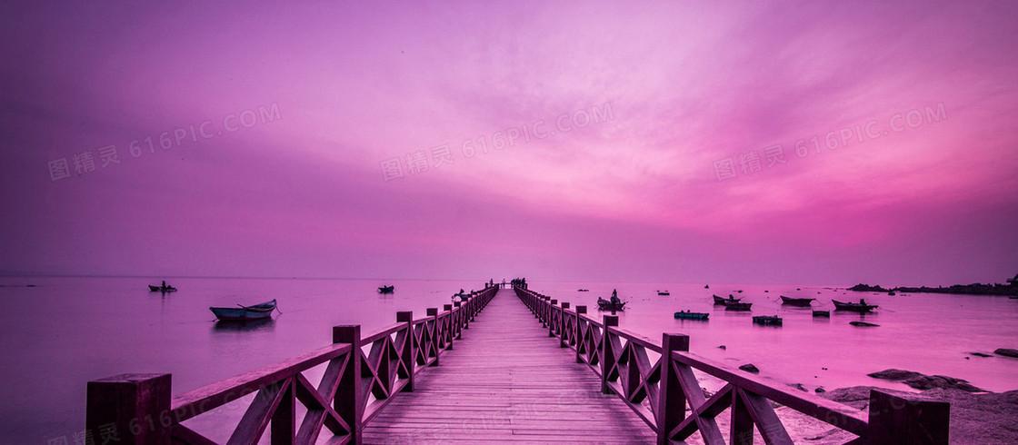 紫色唯美浪漫情侣七夕背景图