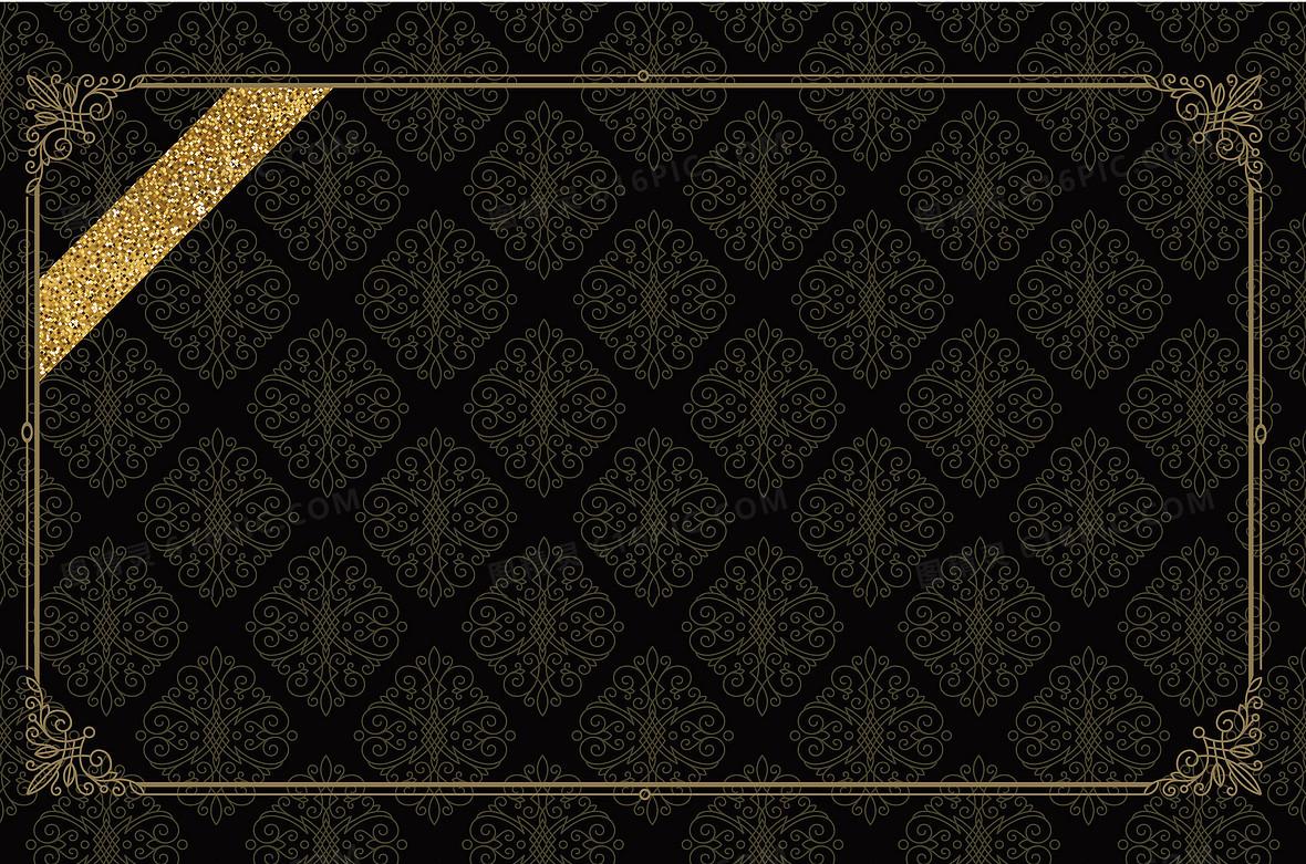 黑色边框底纹背景