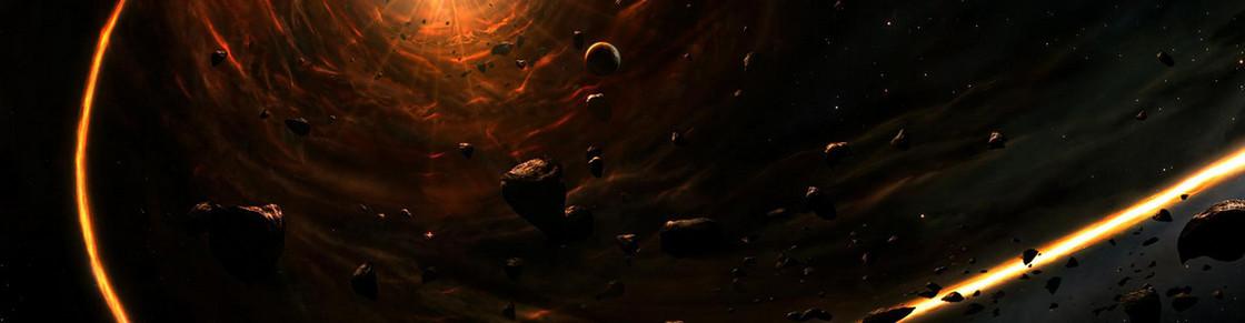 宇宙 星云 云层  地球 河水 岩石 天空 星空
