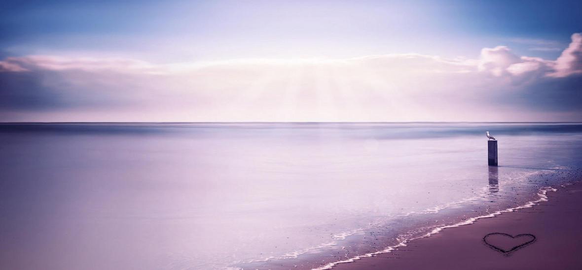 大海藍色七夕情人節浪漫唯美幸福甜蜜背景圖