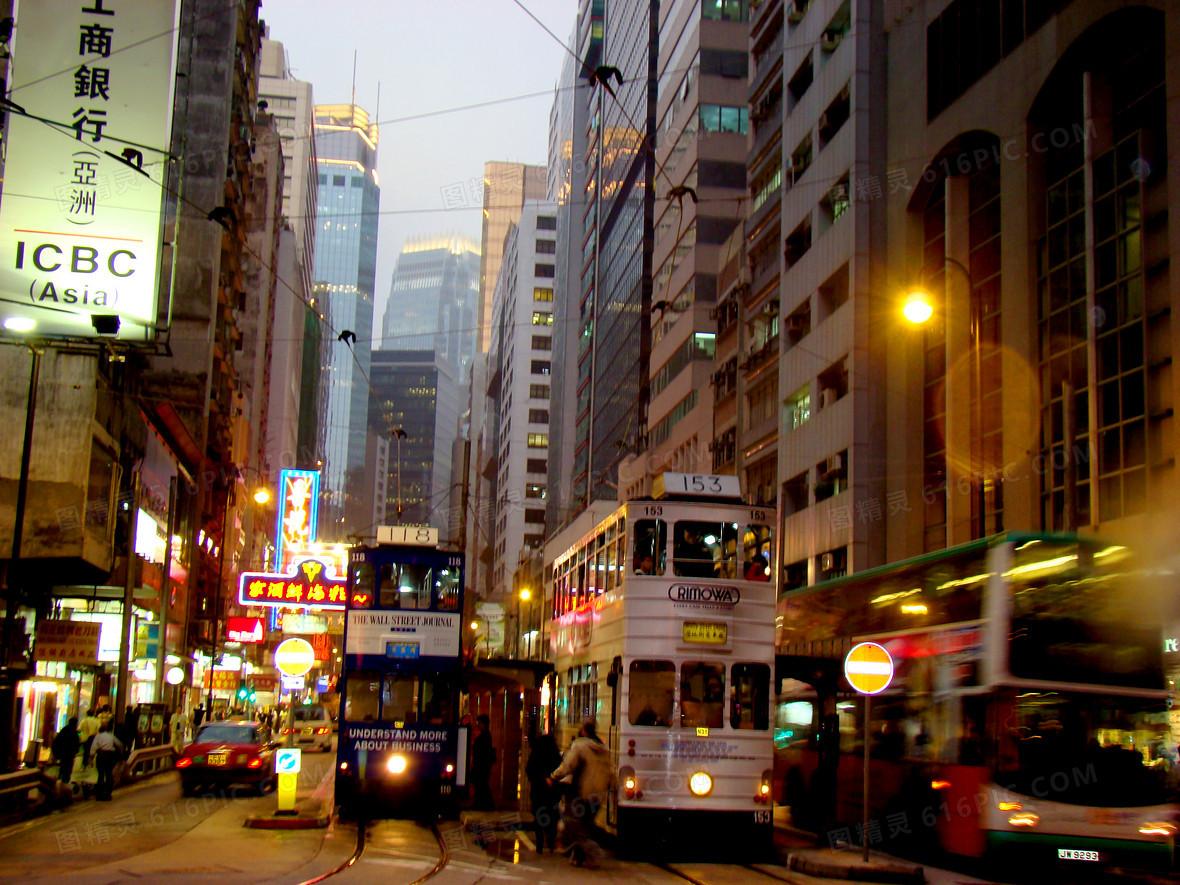 香港夜景素材背景图片