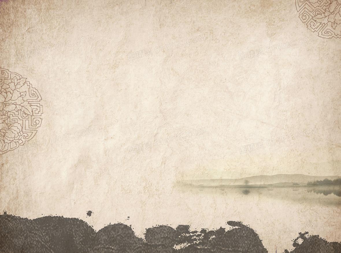 中式水墨红木展板背景图片下载_7087x3543像素jpg格式