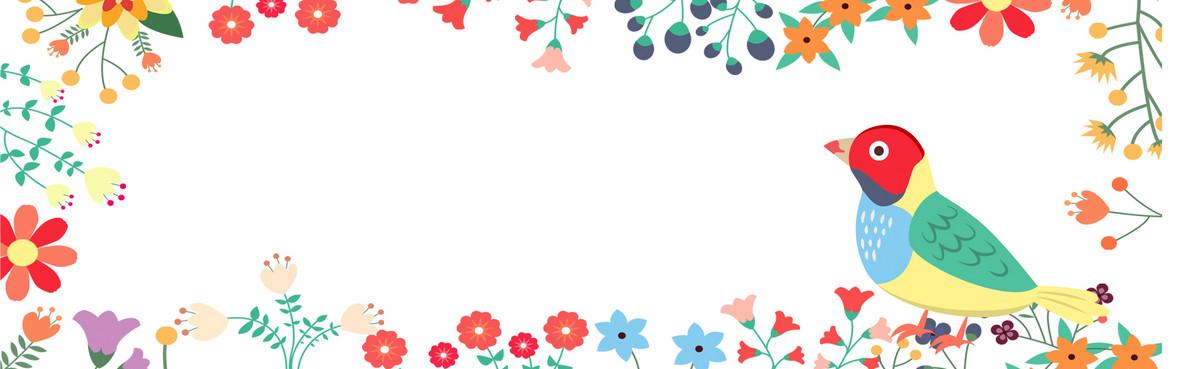 儿童画花边的边框主图背景psd_亿库素材网