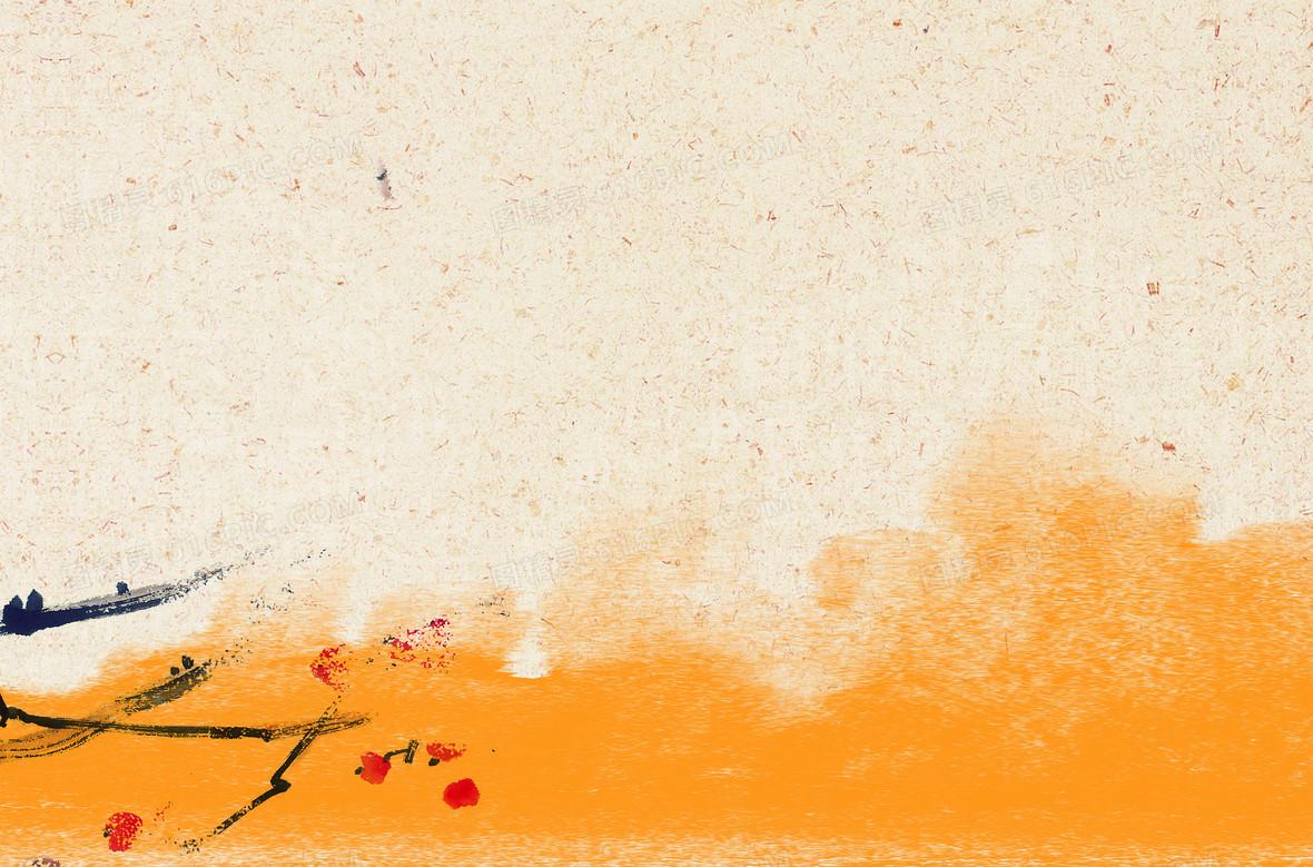 简约古风暖色系复古底纹海报psd背景素材