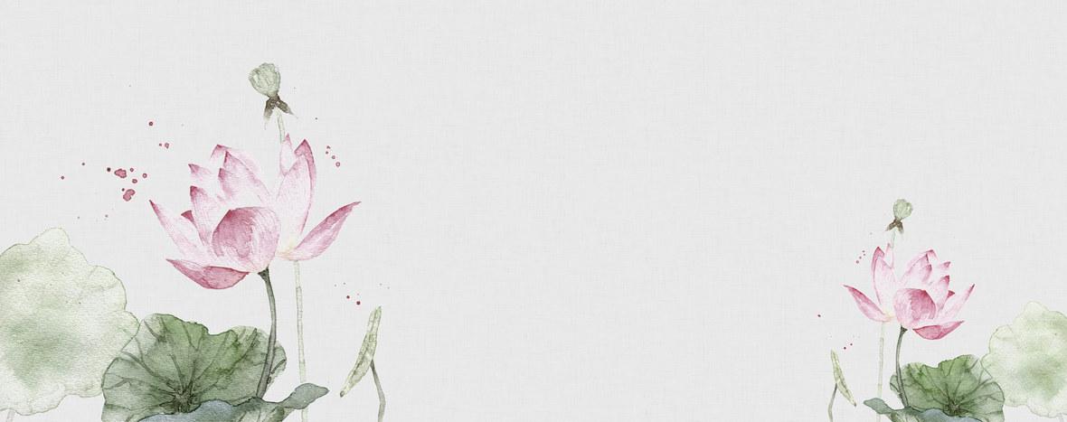文艺清新水彩手绘花朵淘宝女装背景