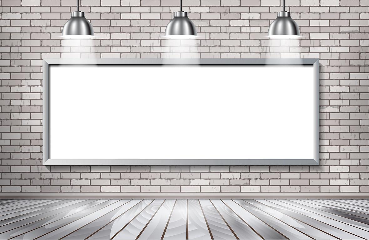 简约立体墙砖室内背景素材