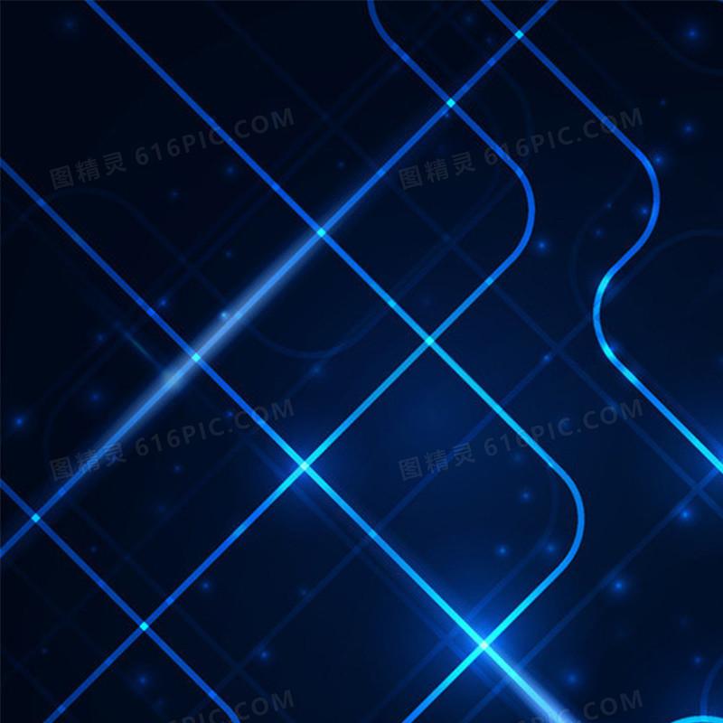 蓝色科技数码电子产品炫酷光束直通车钻展背景