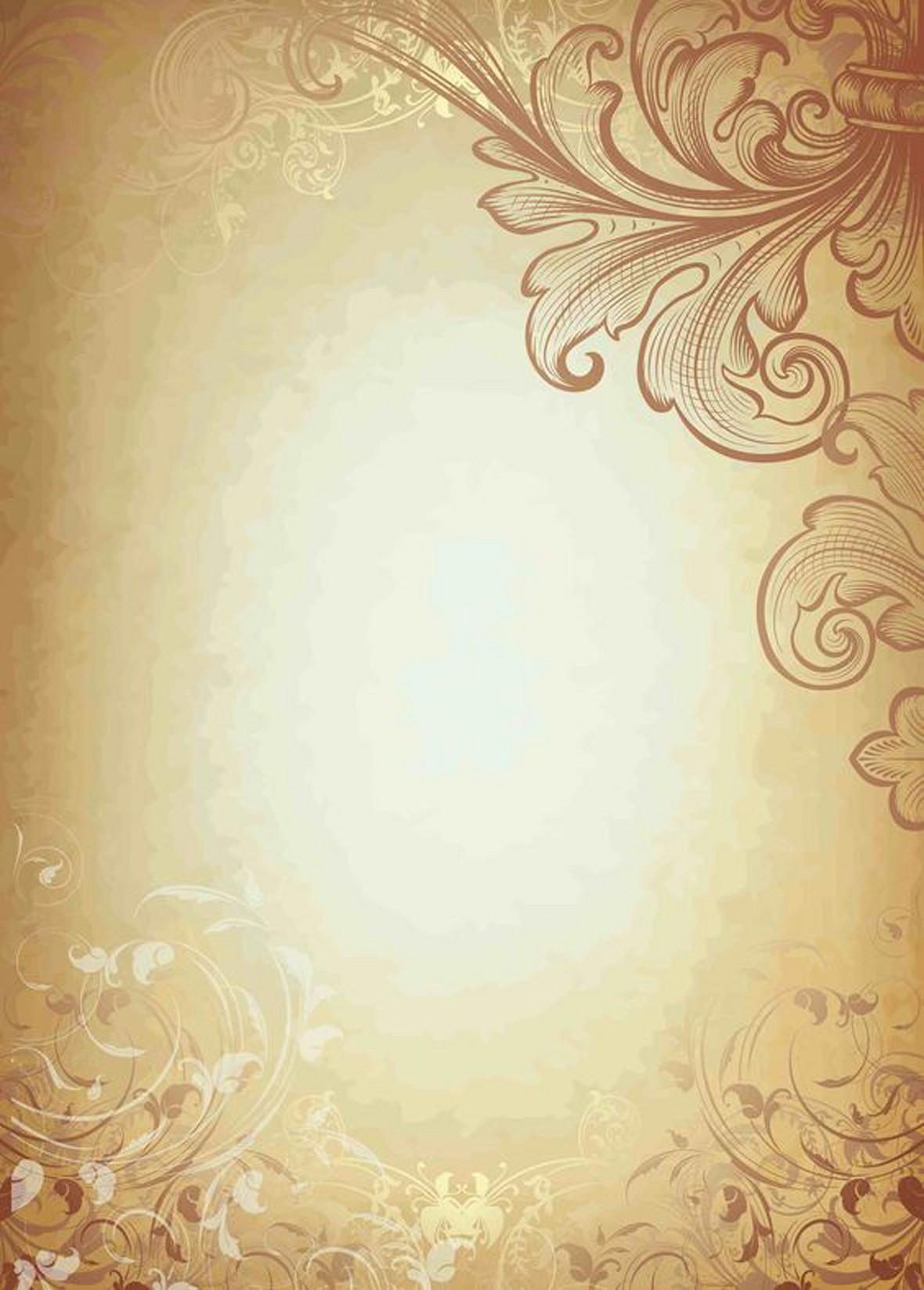 复古花纹背景图