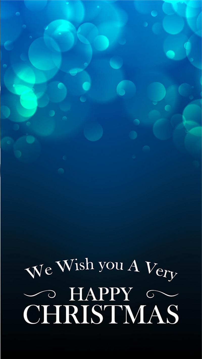 蓝色渐变气泡圣诞h5素材背景