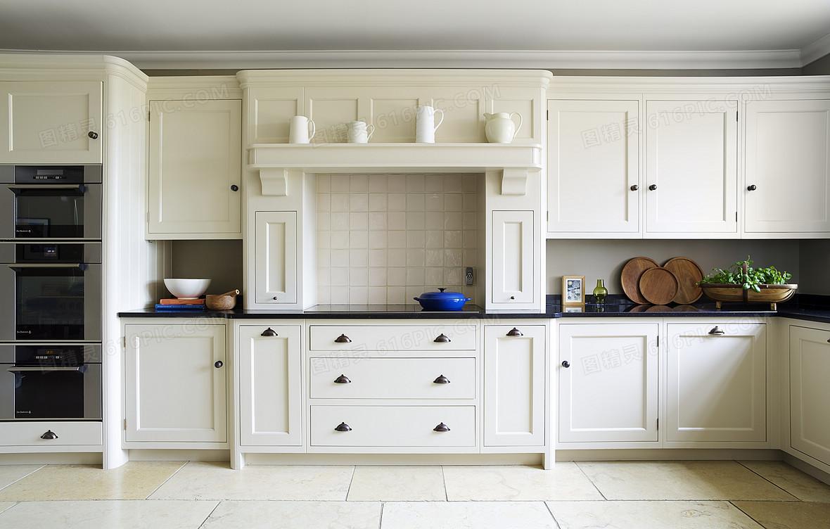 简约欧式家居厨房橱柜宣传海报背景素材