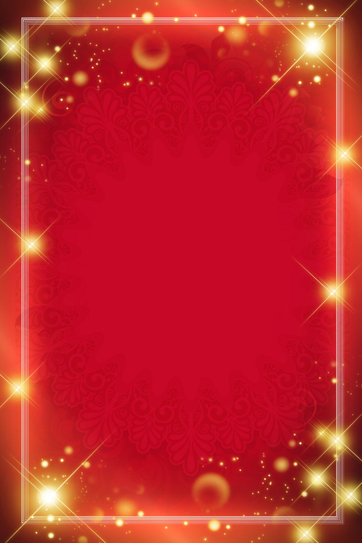 欧式商务花纹红色背景素材