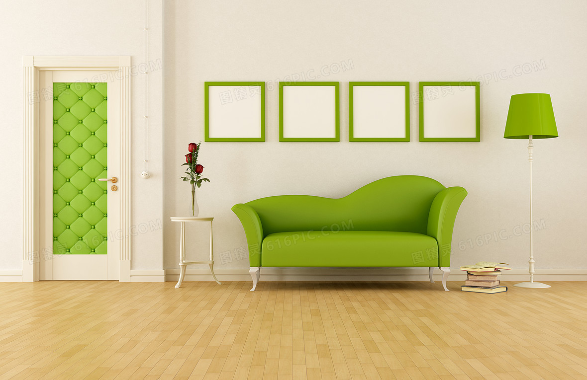 现代风格室内沙发海报背景素材