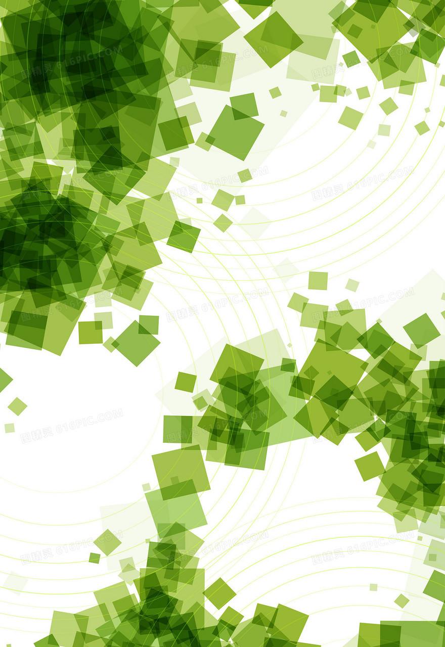 矢量绿色科技几何背景