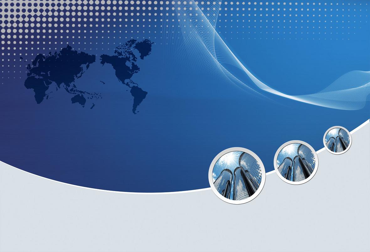 蓝色世界地图科技海报背景模板