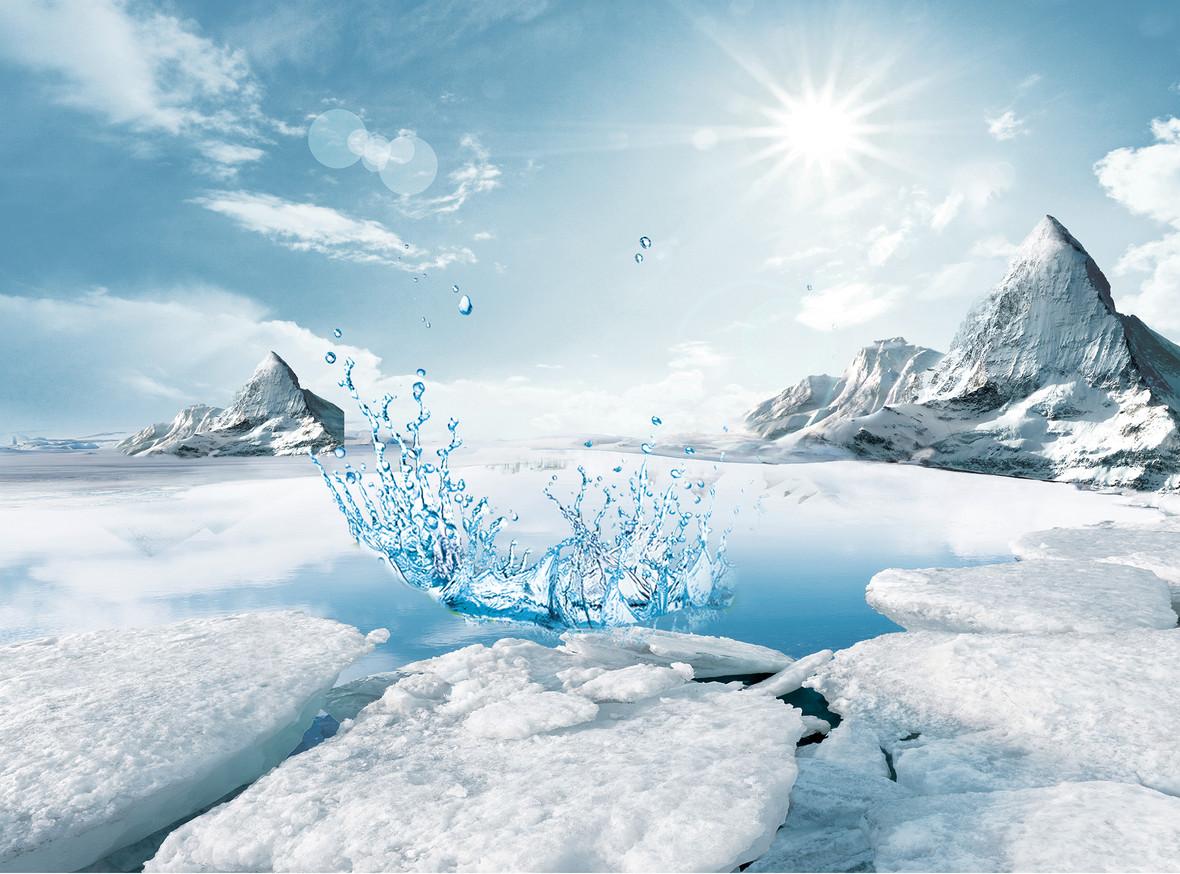 冰山天然保湿化妆品背景素材
