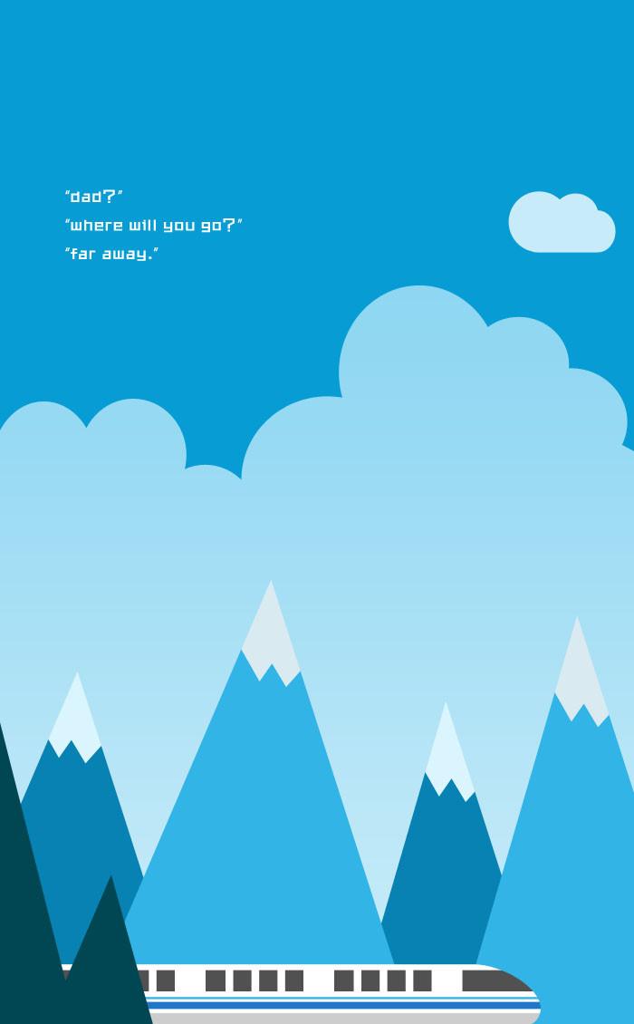 卡通蓝天白云背景图