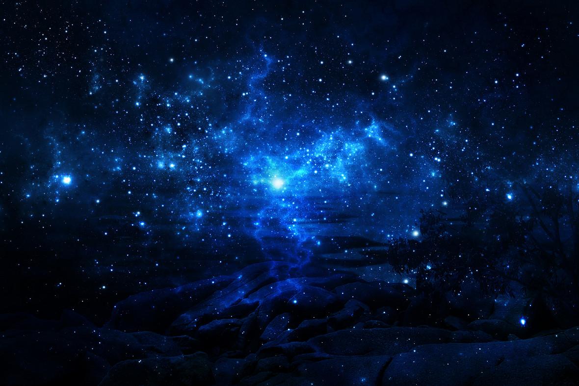 璀璨星空背景素材