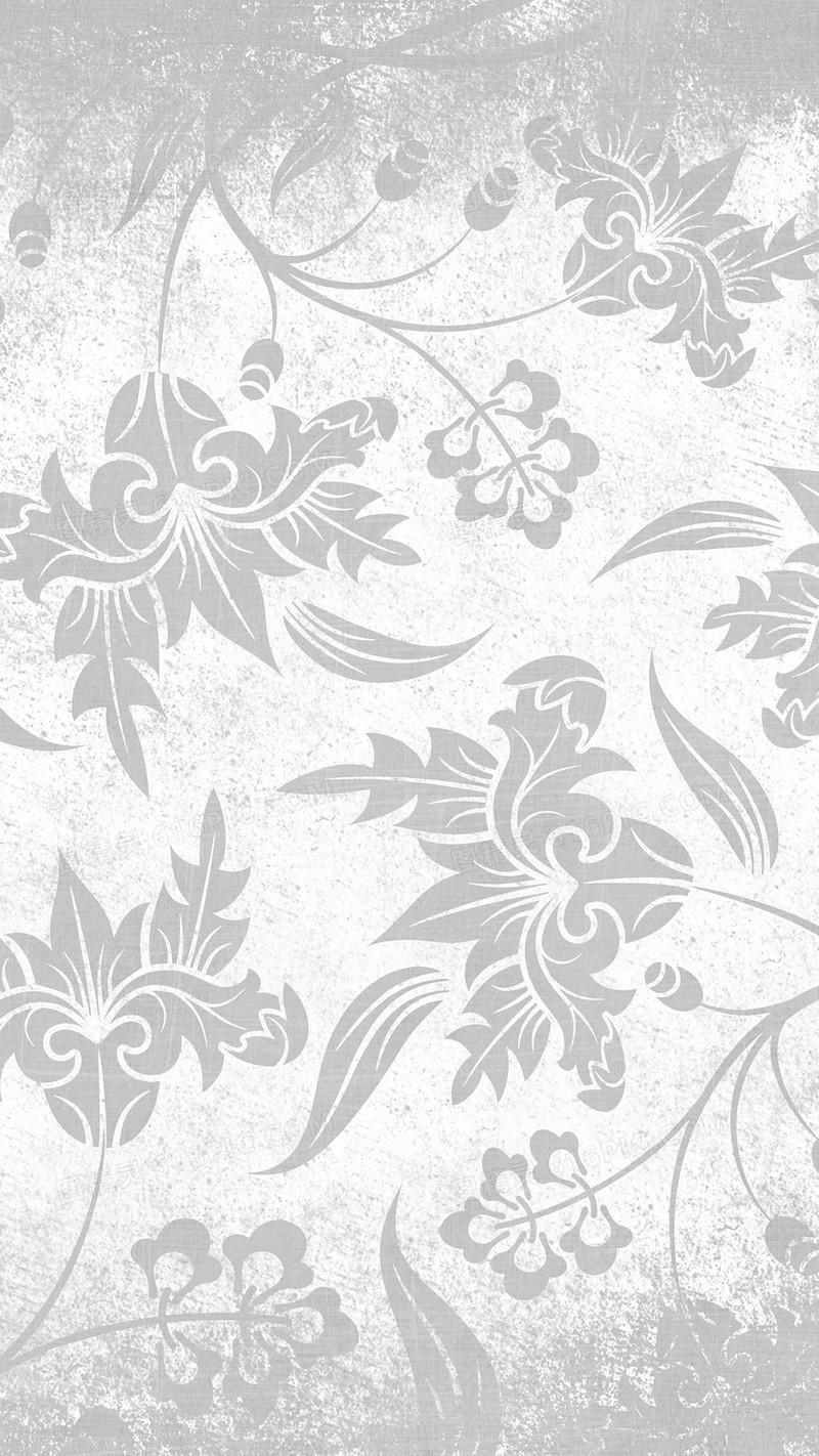 银色欧式暗花h5背景素材