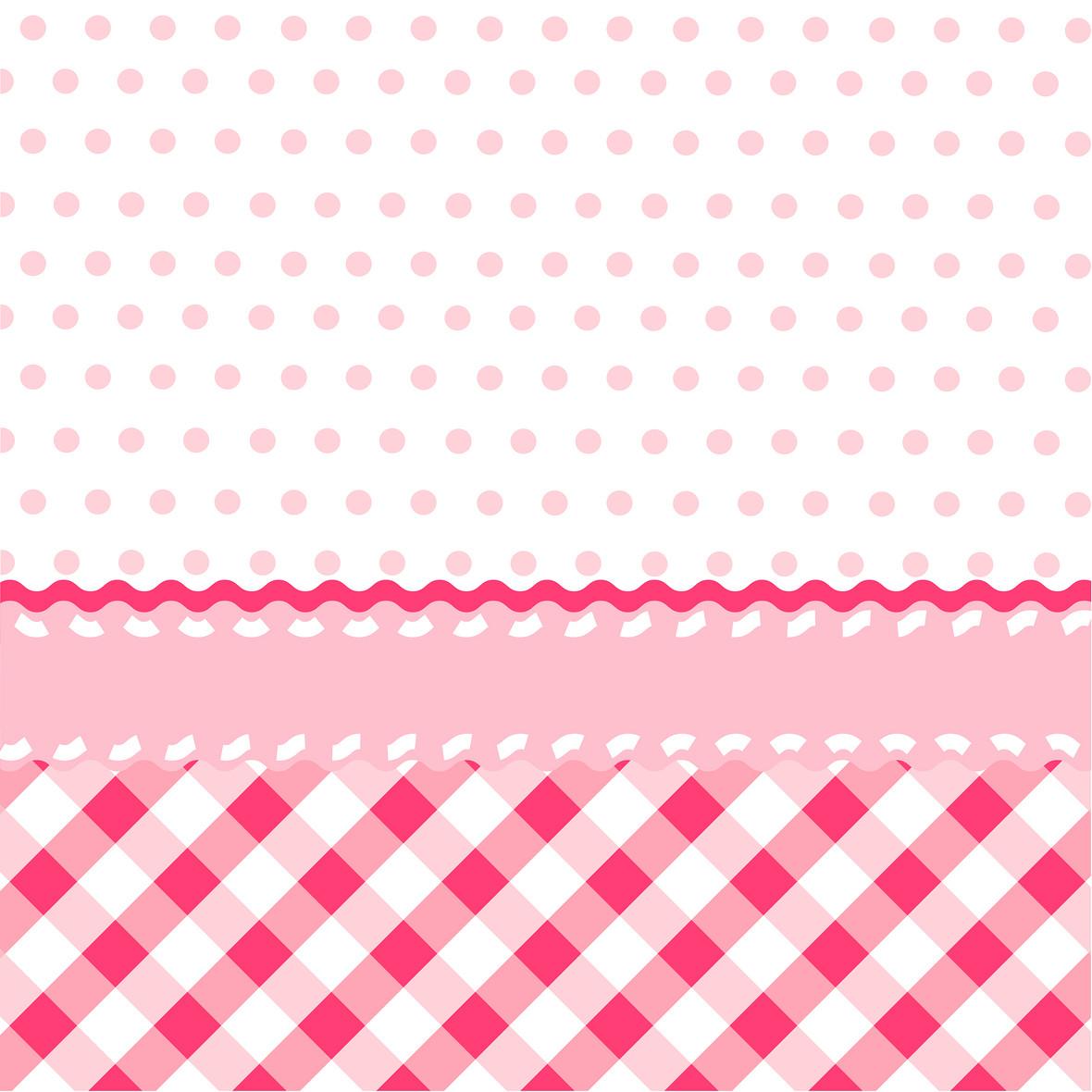 矢量粉色波点格子背景素材