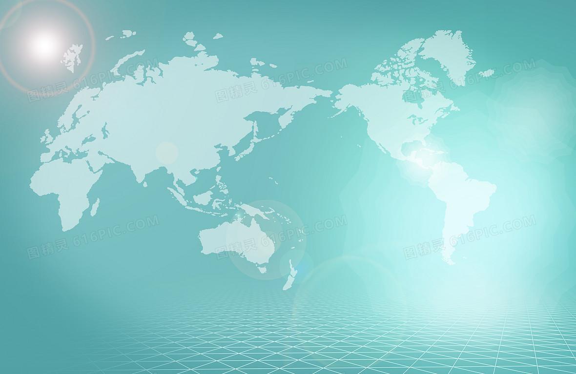 地图科技蓝色海报背景