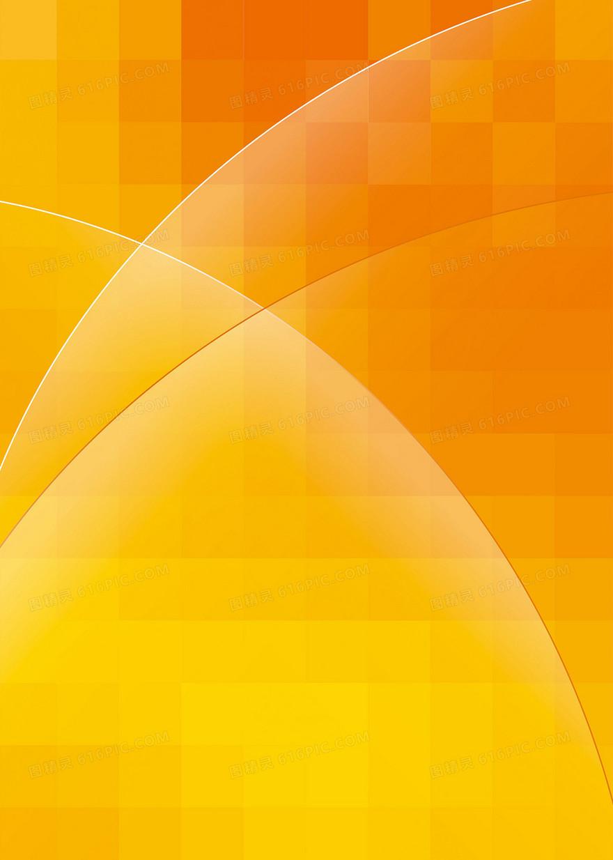 矢量渐变橙色几何方块组合背景