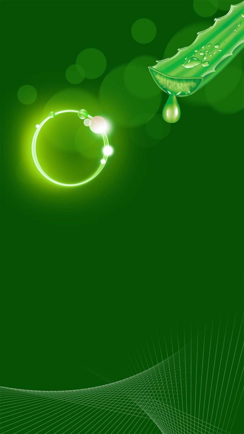 绿色植物小清新芦荟h5背景素材