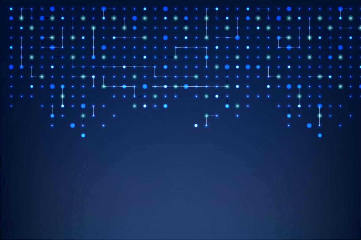蓝色电路抽象背景矢量素材
