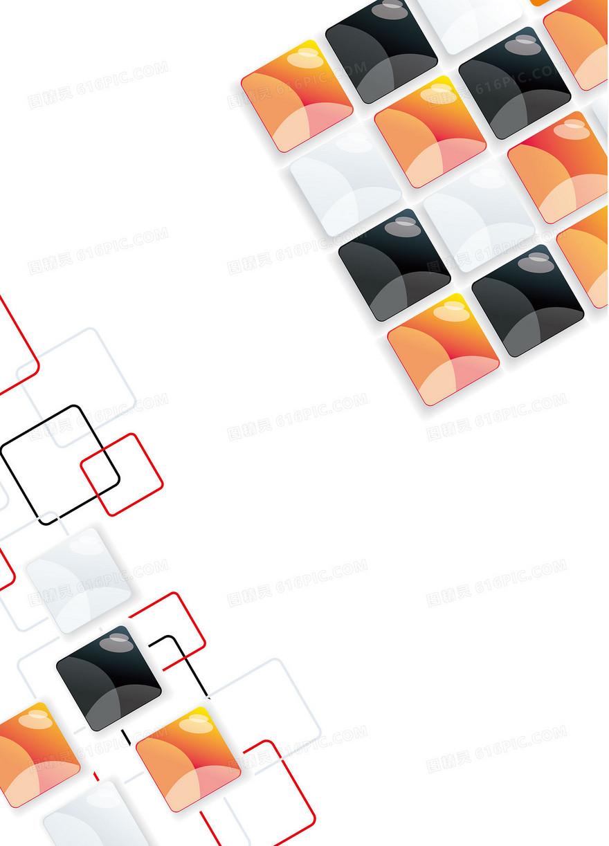 矢量质感晶格科技商业背景