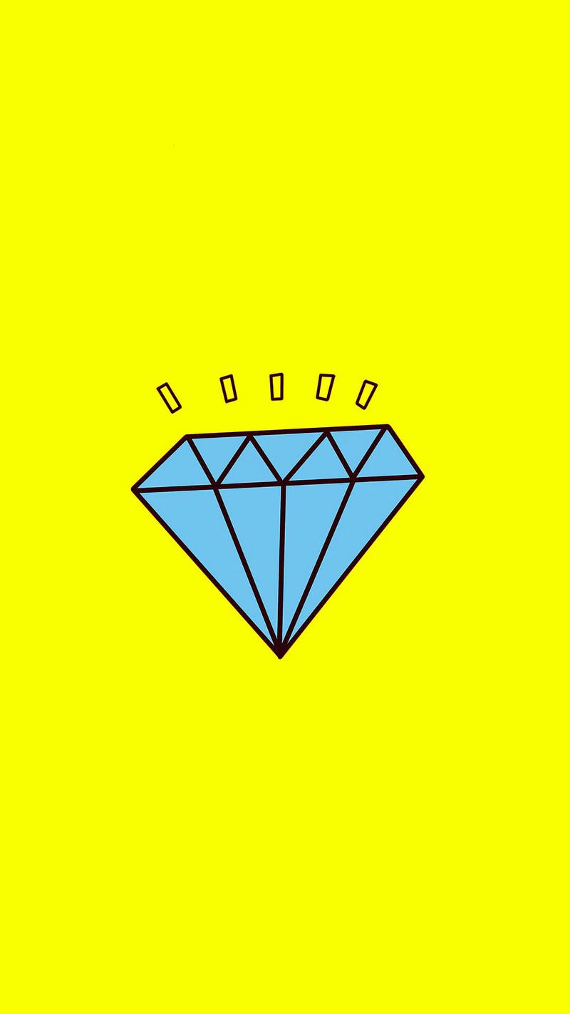 蓝色钻石黄色纯色背景h5背景素材