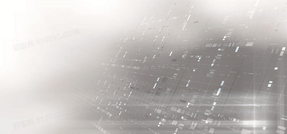 灰色科技光线背景