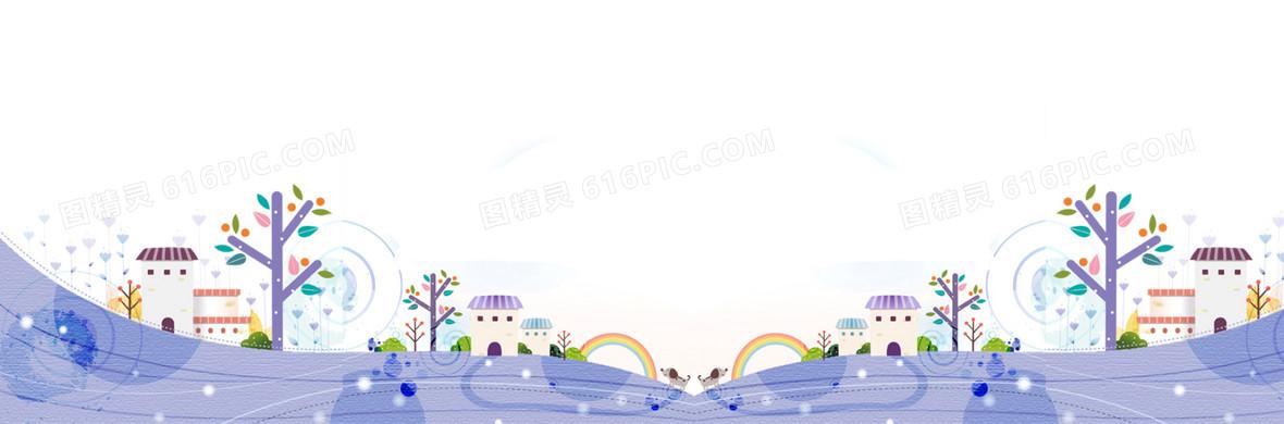 发卡通背景梦幻儿童房城堡图片