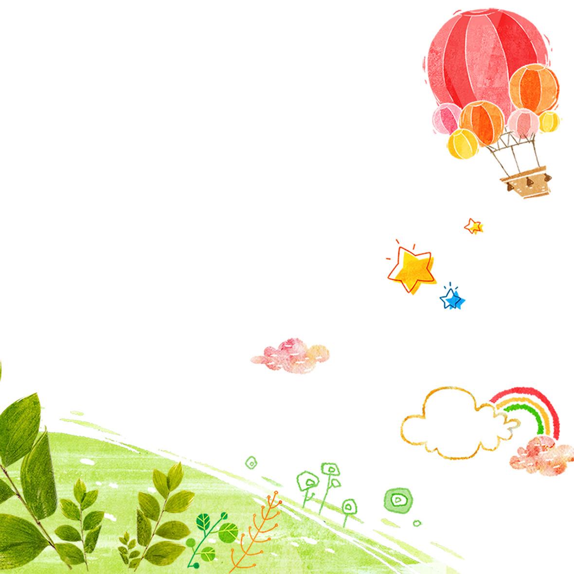 手绘卡通背景背景图片下载_1920x900像素jpg格式_图