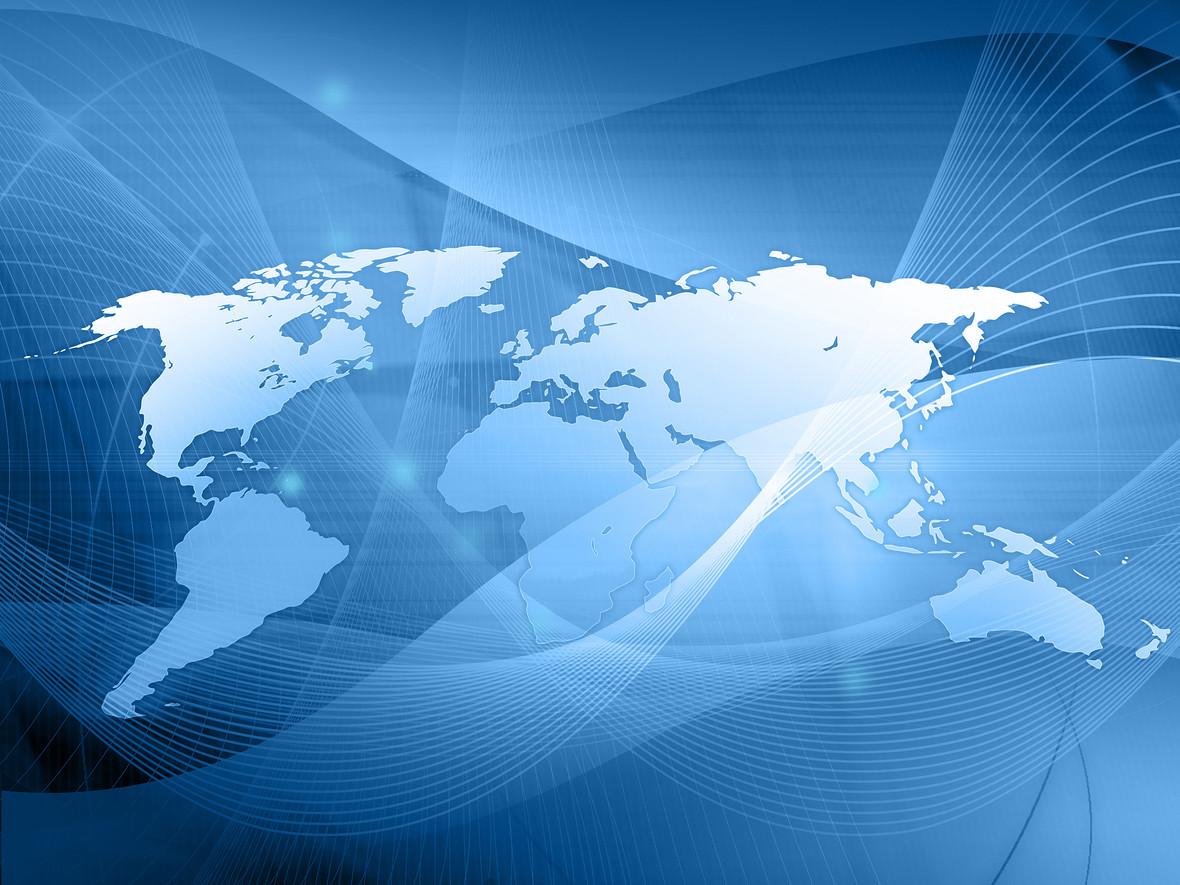 世界地图蓝色商务背景