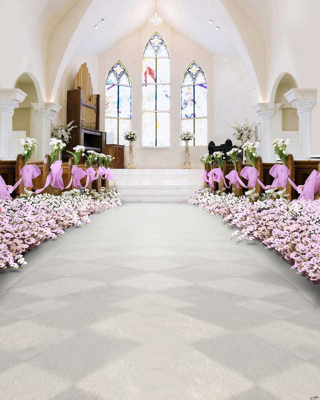 教堂婚礼背景图素材