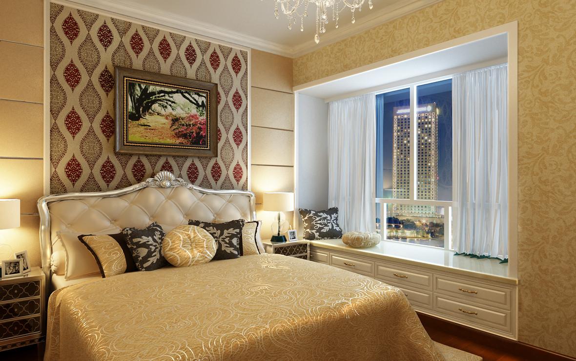 欧式家居卧室飘窗高清海报背景素材