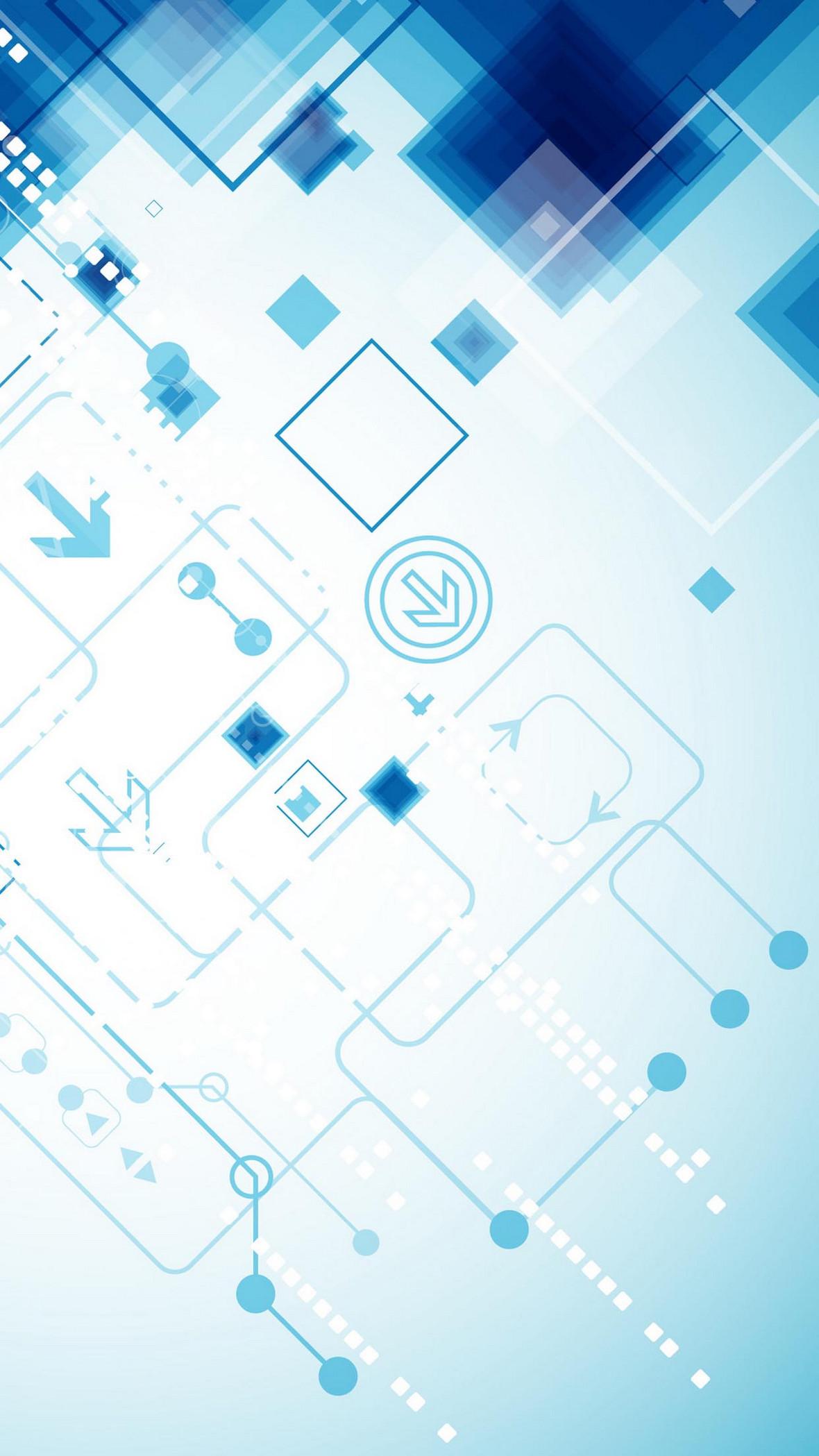 蓝色科技商务h5背景