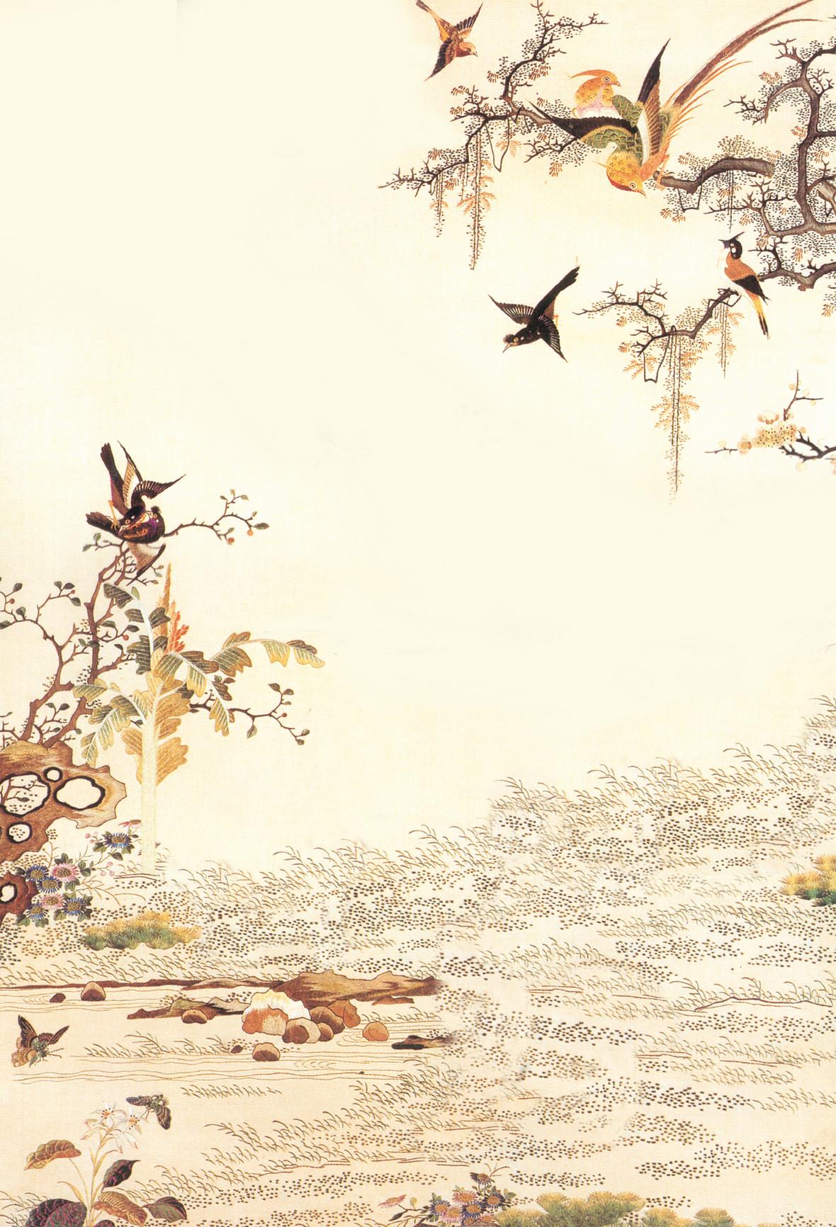 父亲节文艺手绘背景渲染水墨中国风背景