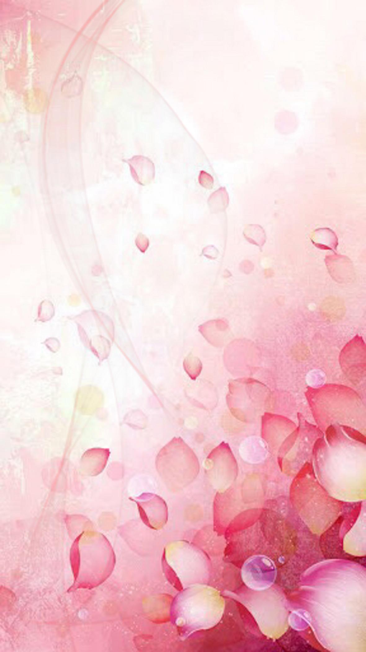 唯美露珠花瓣化妆品海报背景素材